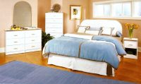 white bed 399